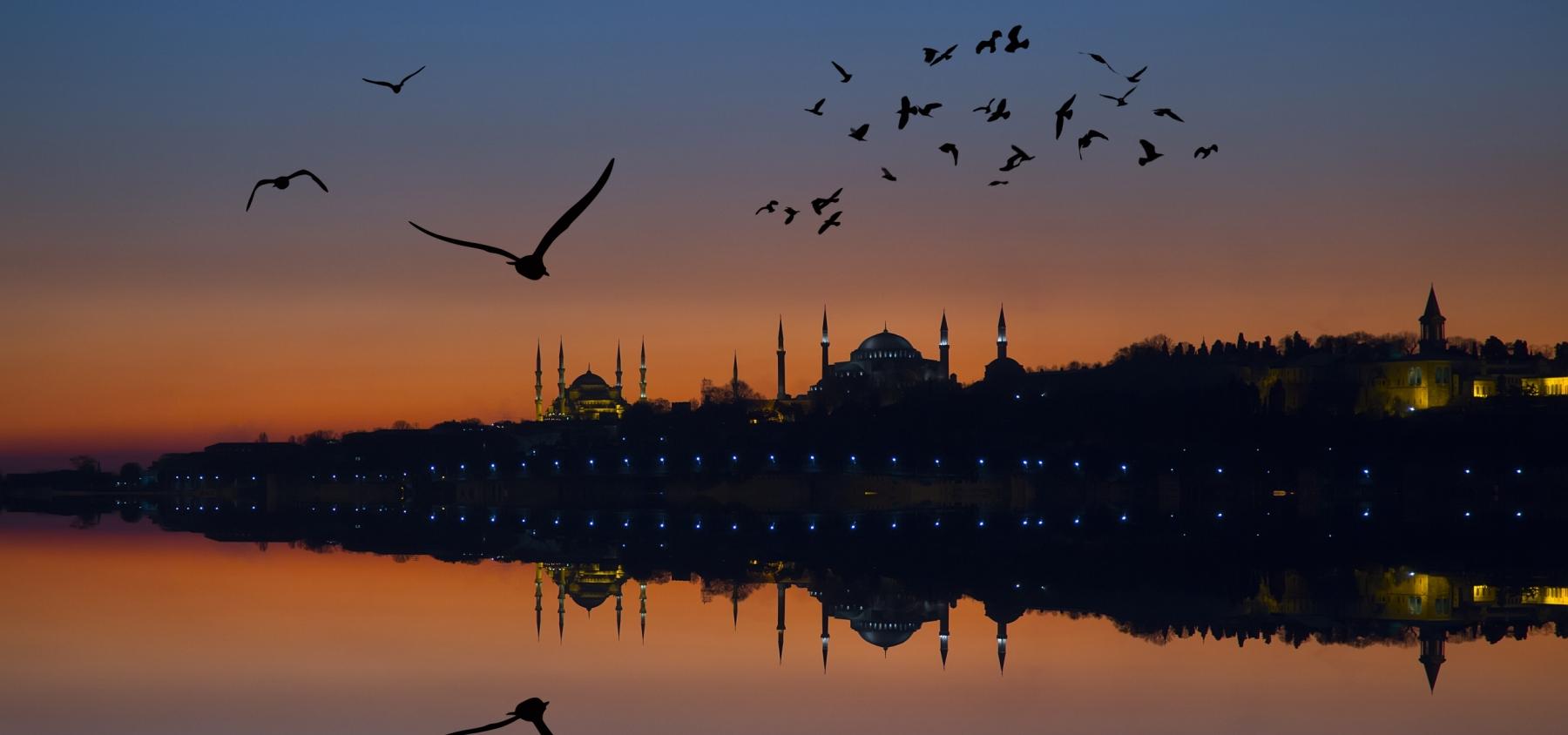 Puesta del sol en Estambul